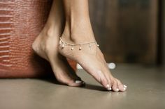 Silver Anklet Silver Hearts And Bells by OneYellowButterflyy