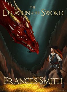 A historical fantasy cover illustration with a dragon and a renaissance/ century swordswoman. Book Cover Art, Imagine Dragons, Australian Artists, Cover Design, Drake, Sword, Renaissance, Fantasy Art, Digital Art