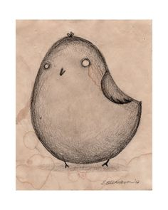 Butterball Bird Drawing by TorpidPorpoise
