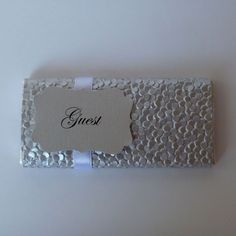 Personalised Chocolate Bars - Pebble Design - Wedding Favour & Placecard in 1