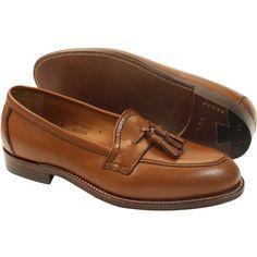 Alden Men's Inverted Seam Toe Tassel Dark Cognac Calfskin Style #: 60340F | Available at #TheShoeMart.com
