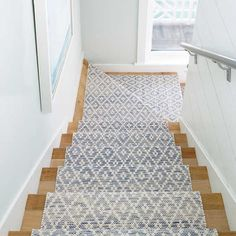 A woven rug from Dash & Albert is an inviting addition to your home. Come by one of our locations to check out our rug & runner collections! We will help you choose the right color and install the runner as well. Beige Carpet, Diy Carpet, Patterned Carpet, Carpet Ideas, Wall Carpet, Sisal Carpet, Staircase Runner, Carpet Runner On Stairs, Stair Rug Runner