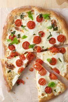 Tomato Basil Ricotta Pizza