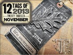2013 November: faux chalk technique using antiquities frosted embossing powder.