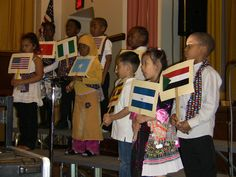 Students born in nine different countries who speak 13 different native languages and all attend Milwaukee Public Schools' Story School shared a stage at the school Wednesday night for a multicultural program.