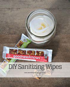 DIY Sanitizing Wipes [ad] #TryALittleGoodness