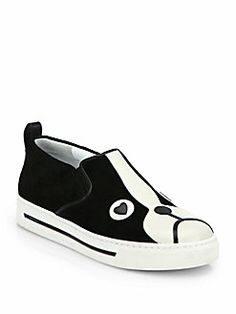 Marc by Marc Jacobs - Dog Suede & Leather Laceless Sneakers