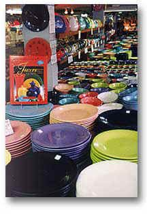 Will be buying some Fiesta dishes Holley Ross Pottery in Cresco, PA.