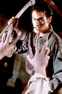 'EVIL DEAD II' (1987) Bruce Campbell as Ashley 'Ash' J. Williams