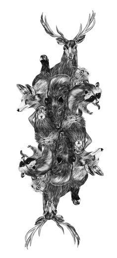 Deep forest/playing card by Lara Bispinck, via Behance