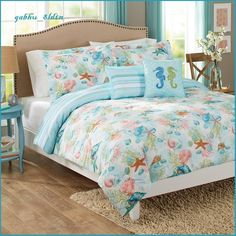 Modern Beach House Ocean Blue Green Coral Tropical Shells Coastal Comforter Set FOR SALE • $83.18 • See Photos! Money Back Guarantee. MODERN BEACH HOUSE OCEAN BLUE GREEN CORAL TROPICAL SHELLS COASTAL COMFORTER SET This comforter set will bring the pleasure of a day at the beach to your bedroom. This set, 201598003710