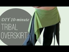 Easy, 10 minute belly dance DIY! Make a tribal overskirt / hip skirt with side ruffles :)