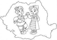 Romania coloring page Projects For Kids, Diy For Kids, Art Projects, Crafts For Kids, Fall Coloring Pages, Coloring Pages For Kids, Preschool Writing, Preschool Activities, Medan