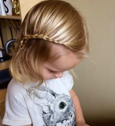 easy braided baby girl hairstyle