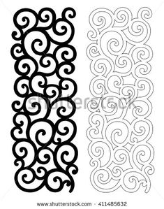 Illustration about Ornate vector pattern for cutting on white background. Illustration of flower, decoration, lacy - 70522563 Chocolate Template, Royal Icing Templates, Piping Templates, Decoration Patisserie, Chocolate Decorations, Stencil Patterns, Cake Decorating Techniques, Pattern Cutting, Vector Pattern