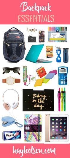 These are my top Backpack Essentials! Must-Have items for your backpack, you'll…
