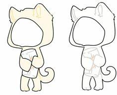 Manga Clothes, Drawing Clothes, Cute Animal Drawings, Cute Kawaii Drawings, Character Aesthetic, Character Design, Chibi Body, Casa Anime, Chibi Eyes