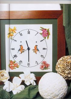 Cross Stitches, Wall Clocks, Sewing Projects, Clock, Punto De Cruz, Art, Chiming Wall Clocks, Seed Stitch, Crochet Stitches