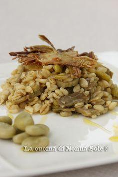 """""""Granotto"""" con fave e carciofi"""