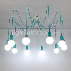 Modern Pendant Lights DIY Art Pendant Lamp Lighting Multi-color Silicone E27 Bulb Holder Lamps Home Decoration 2016 - $96.99