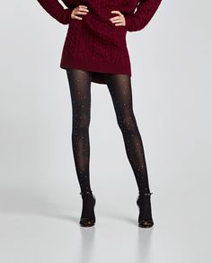 Image 3 of TIGHTS WITH SHINY APPLIQUÉS from Zara