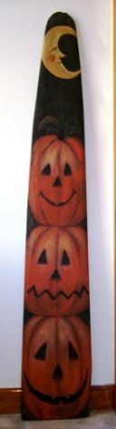 hand painted Pumpkin Stack