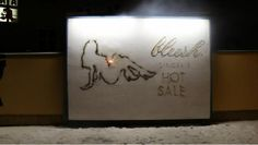 Lingerie Brand's Smoking Hot Ad Literally Sets A Billboard On Fire via @DesignTAXI Crew #OOH #PR #Stunt