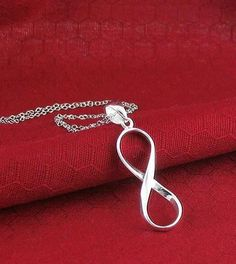 Simple Infinity Necklace in Sterling Silver-Infinity-woot & hammy