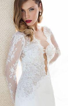 Свадебные платья Julie Vino с глубоким вырезом   смотреть фото цены купить