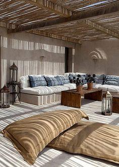 Une terrasse ombragée à l'esprit nature - Marie Claire Maison