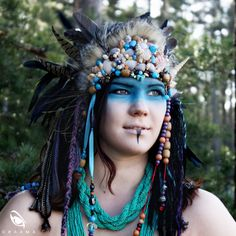 Etsy listing at https://www.etsy.com/listing/183674115/shaman-woman-headdress-headpiece-fantasy
