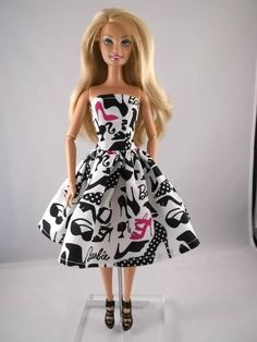 black and white barbie clothes