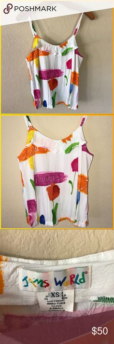 Johnny Was!!! Janes world tulip summer tank, adjustable straps all rayon simply adorable. If you love Johnny Was you will love in this beauty!. Size XS Johnny Was Tops Tank Tops