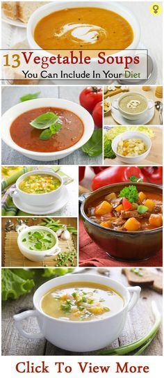 Top 9 Vegetable Soups You Can Include In Your Diet