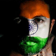 Indian flag face paint..indian# flag#face paint#