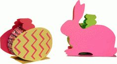 Silhouette Online Store - View Design #39083: mini easter candy holders