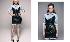 Saint-Laurent leather dress and pumps | YouStrikeMyFancy