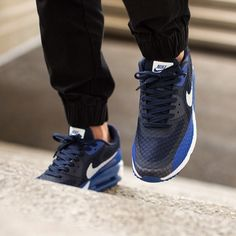 "Nike Air Max Lunar 90 Breeze ""Game Royal/Midnight Navy Black-White"" available now @titoloshop"