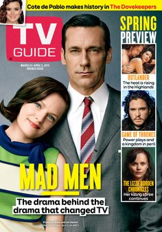 March 23/March 30, 2015. Elisabeth Moss and Jon Hamm of Mad Men
