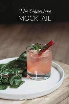 The Genevieve Mocktail – Marnie Rae // Soft Cocktails The Genevieve Mocktail The Genevieve is an easy, mocktail recipe. This nonalcoholic drink is made with lemon juice, Simple Goodness Sisters Rhubarb Vanilla Syrup, and club soda. Easy Mocktail Recipes, Summer Drink Recipes, Summer Drinks, Cocktail Recipes, Non Alcoholic Cocktails, Mocktail Drinks, Party Food And Drinks, Fun Drinks, Recipe Generator