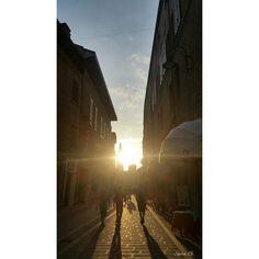 Via Cortevecchia al tramonto. #MyFerrara #comunediFerrara #igersferrara #Ferrara