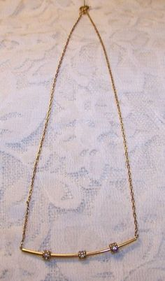 undefined Rhinestone Necklace, Arrow Necklace, Gold Necklace, Retro, Vintage, Jewelry, Gold Pendant Necklace, Jewlery, Jewerly