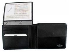 Geldbörse Golden Head Como schwarz Voll-Rindleder - Bags & more Rind, Wallet, Fashion, Leather, Black, Pocket Wallet, Moda, La Mode, Handmade Purses
