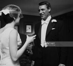 Actors <a gi-track='captionPersonalityLinkClicked' href=/galleries/search?phrase=Cary+Grant&family=editorial&specificpeople=90519 ng-click='$event.stopPropagation()'>Cary Grant</a> with Barbara Rodney attend the Carol Ladd & Dick Anderson wedding in Los Angeles, California.