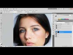Профессиональная ретушь женского портрета - YouTube
