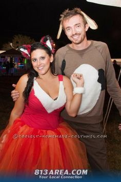 Adorable Couples Costume: The Fox and the Hound ... This website is the Pinterest of costumes