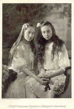 Princess Charlotte (later Grand Duchess) and Princess Hilda of Luxembourg