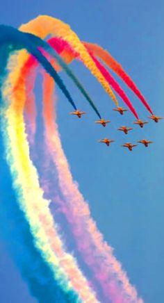 Airplane Aerobatic Show #HelloRainbow