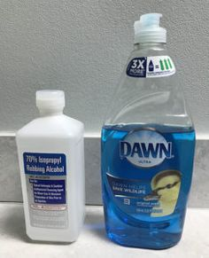 Isopropyl Alcohol and dawn