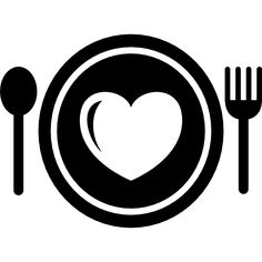 Dish heartbeat spoon Restaurant Foods Dishes Hearts Fork Heart food Icon Heart dish Free icons Branding design logo